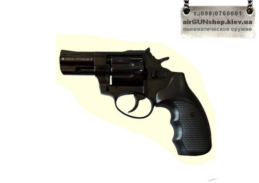 №2449 Ekol 3 Black. Револьвер под патрон Флобера. Черный. Турция