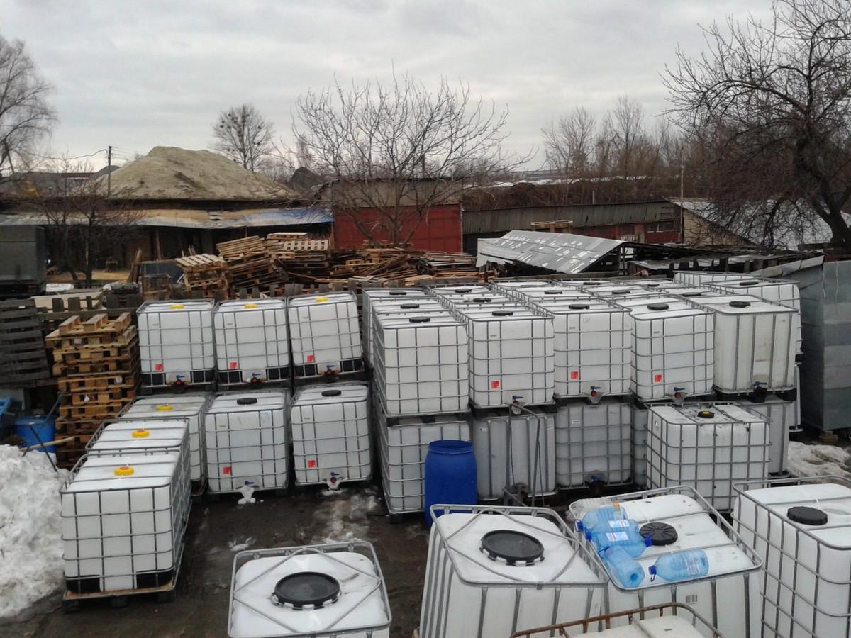 №8477 Еврокуб ( IBC-контейнер ) 1000 л, европоддоны, бочки. Евротара-Харьков.