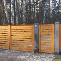 №15726 Забор из дерева для дома