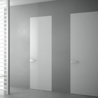 №16310 Межкомнатные двери скрытого монтажа стеклянные