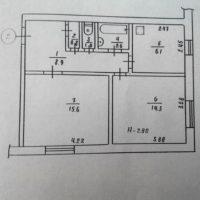 №16580 2-комнатная квартира Кривой Рог
