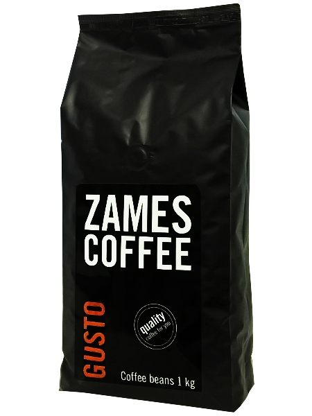 №17881 Кофе в зернах ZAMES Gusto 1 кг | 50% Арабики -оптом