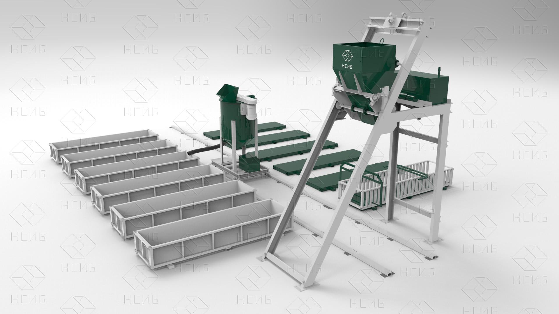 №20572 Оборудование для производства газобетона, пенобетона, полистирол бетона. НСИБ