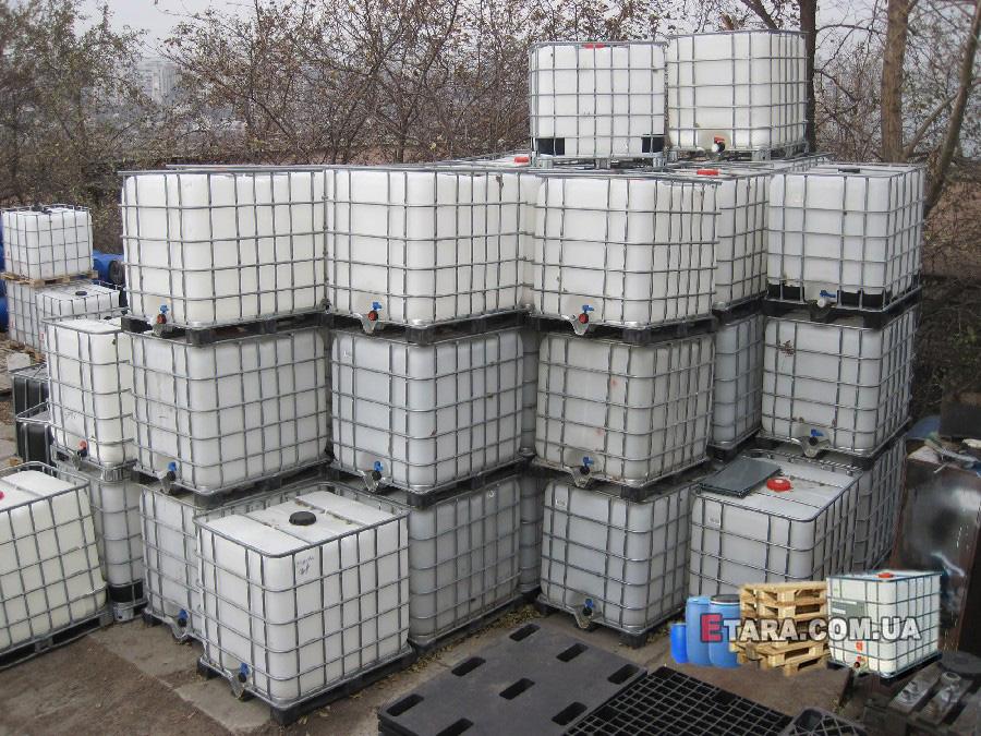 №3088 Еврокуб ( IBC-контейнер ) 1000 л, европоддоны, бочки. Евротара-Харьков.