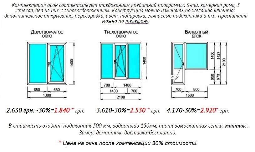 №6322 Компенсация 30% на окна, балкон, лоджии, двери. Кредит ОщадБанка.