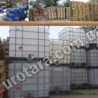 №9975 Еврокуб (IBC-контейнер) 1000 л, европоддоны, бочки. Евротара-Харьков.