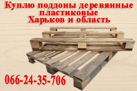 №13022 Куплю поддоны деревянные, пластиковые много постоянно по Харькову и области.