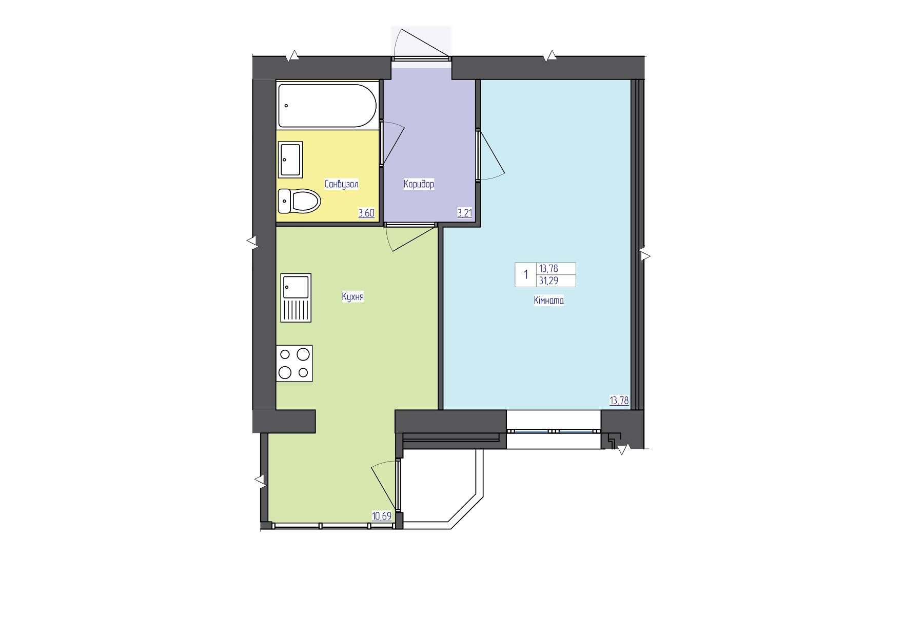 №12959 Продам квартиру в новостройке