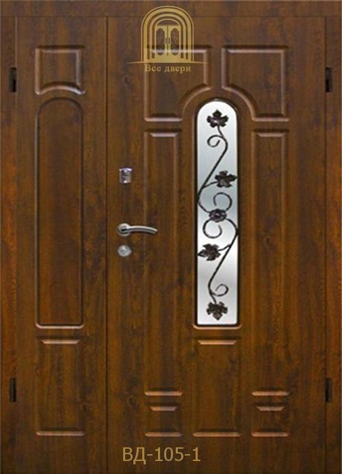 Входные двери со стеклом и ковкой в Украине оптом и в розницу — 7700 грн