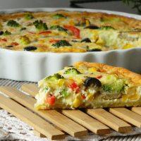 №19046 Рецепт Постный овощной пирог