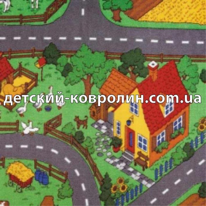 №24281 Детский ковролин. Детский коврик для игр Farm. Ковры детские.