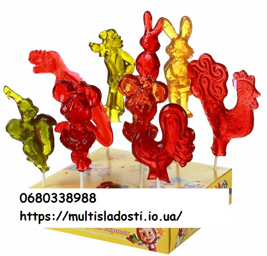№25028 Леденцы на палочке в форме мультгероев. Мультисладости.
